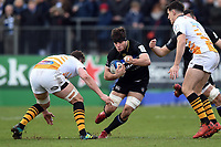 Josh Bayliss of Bath Rugby in possession. Heineken Champions Cup match, between Bath Rugby and Wasps on January 12, 2019 at the Recreation Ground in Bath, England. Photo by: Patrick Khachfe / Onside Images