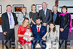 Little Mia Danielle Walsh, Cullen celebrated her christening with her parents Karen and Mondo and big sister Emily and back row: Paddy and margaret Lane, Judy Lane and Matthew Walsh and Anthony and Brendan Walsh in the Killarney Heights Hotel on Saturday