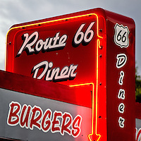 Route 66 Diner at the Route 66 Museum in Clinton Oklahoma.
