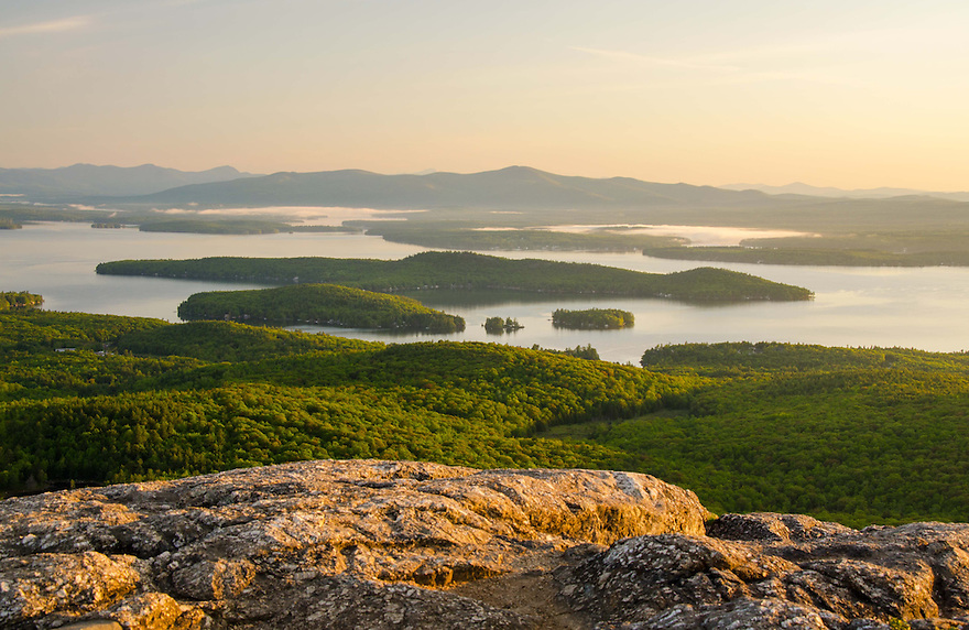 Late spring over Lake Winnipesaukee from Mt. Major.