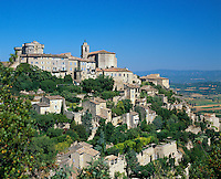 France, Provence, Gordes: Hill Top Village | Frankreich, Provence, Gordes: Bergdorf
