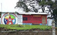 Messico,Chiapas, Gennaio 2010<br /> Comunità zapatista indigena Chayavez<br /> La sede di  Radio Despertar<br /> Mexico, Chiapas, in January 2010<br /> Zapatista indigenous communities Chayavez<br /> The headquarters of Radio Despertar