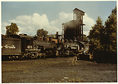 K-37 #494 and #490 by coaling tower in Chama.<br /> D&amp;RGW  Chama, NM