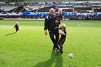 Alan Curtis, assistant coach for Swansea City at the final whistle during the Sky Bet Championship match between Swansea City and Hull City at the Liberty Stadium in Swansea, Wales, UK. Saturday 27 April 2019