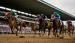 JUNE 06: Catalina Cruiser with Joel Rosario (Left) defeats Recruiting Ready with Luis Saez (center) and Strike Power  John Velazquez to win The True North Stakes  at Belmont Park in Elmont, New York on June 06, 2019. Evers/Eclipse Sportswire/CSM