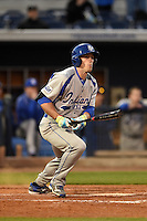 Indiana State Sycamores infielder/outfielder Jacob Hayes (15) at bat during a game against the Vanderbilt Commodores on February 20, 2015 at Charlotte Sports Park in Port Charlotte, Florida.  Vanderbilt defeated Indiana State 3-2.  (Mike Janes/Four Seam Images)