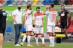 Duesseldorfer Spieler nach Spielende.<br />vli:Niko GIESSELMANN (Fortuna Duesseldorf),<br />Kevin STOEGER (Fortuna Duesseldorf),<br />Kenan KARAMAN (Fortuna Duesseldorf),<br />enttaeuscht,frustriert,niedergeschlagen,.<br /><br />Fussball 1. Bundesliga, 33.Spieltag, Fortuna Duesseldorf (D) -  FC Augsburg (A) 1-1, am 20.06.2020 in Duesseldorf/ Deutschland. <br /><br />Foto: AnkeWaelischmiller/Sven Simon/ Pool<br /><br /># Editorial use only #<br /># DFL regulations prohibit any use of photographs as image sequences and/or quasi-video #<br /># National and international news- agencies out #