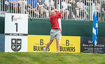 Wales Tom Shanklin tees off <br /> <br /> Celebrity Cup 2019 - Golf - Celtic Manor resort - Saturday 13th July 2019 - Newport<br /> <br /> © www.fotowales.com- PLEASE CREDIT IAN COOK