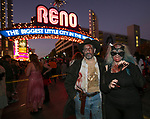 Jason and Jenn during the Zombie Crawl held on Saturday night, October 26, 2019 in downtown Reno.