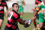 Anand Manga takes the ball forward during the Counties Manukau Premier Club Rugby Game of the Week between Drury & Papakura, played at Drury Domain on Saturday Aprill 11th, 2009..Drury won 35 - 3 after leading 15 - 5 at halftime.