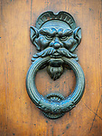 Bronze door knocker, San Gimignano, Siena-Tuscano, Italy