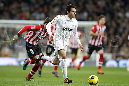 22.01.2012. Madrid Spain. La Liga  The match played between  Real Madrid and Athletic Club de Bilbao (4-1)  played at the Santiago Bernabeu Stadium.  Picture show Ricardo Izecson Kaka (Brazilian midfielder of Real Madrid)