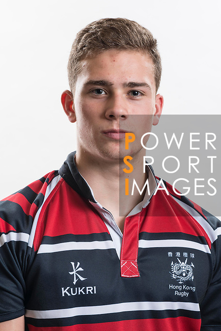 Hong Kong Junior Squad team member Jordan Cooper poses during the Official Photo Session Day at King's Park Sports Ground ahead the Junior World Rugby Tournament on 25 March 2014. Photo by Andy Jones / Power Sport Images