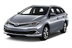 2018 Toyota Auris Touring Sports Lounge 5 Door Wagon angular front stock photos of front three quarter view