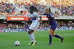 UEFA Women's Champions League 2017/2018.<br /> Quarter Finals.<br /> FC Barcelona vs Olympique Lyonnais: 0-1.<br /> Griedge M'Bock Bathy vs Toni Duggan.