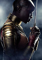 Black Panther (2018) <br /> Danai Gurira<br /> *Filmstill - Editorial Use Only*<br /> CAP/KFS<br /> Image supplied by Capital Pictures
