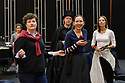 Glasgow, UK. 13.09.2017. Scottish Opera rehearses for La Traviata, which is to be presented at the Theatre Royal Glasgow from October 19th, before touring to Aberdeen, Inverness and Edinburgh from November 2nd.  This production is directed by Marie Lambert (original director is Sir David McVicar), with design by Tanya McCallin and lighting design by Stephen Powles (original lighting design by Jennifer Tipton). The cast is: Gulnara Shafigullina (Violetta Valéry), Peter Gijsbertsen (Alfredo Germont), Stephen Gadd (Giorgio Germont), Laura Zigmantaite (Flora Bervoix), Simon Thorpe (Baron Douphol), Christopher Turner (Gastone), Alex Otterburn (Marchese D'Obigny), James Platt (Doctor Grenvil), Catherine Backhouse (Annina). Photograph © Jane Hobson.