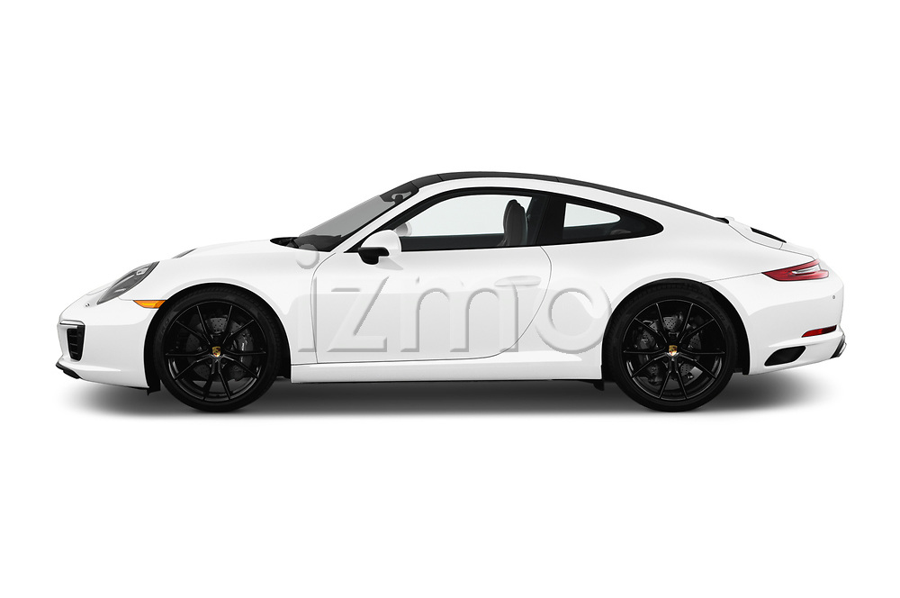 Car Driver side profile view of a 2017 Porsche 911 Carrera-Coupe 2 Door Coupe Side View