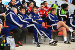 Forest manager, Dougie Freedman looks on - Blackpool vs. Nottingham Forest - Skybet Championship - Bloomfield Road - Blackpool - 14/02/2015 Pic Philip Oldham/Sportimage