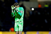 Preston North End's Declan Rudd reacts after the final whistle<br /> <br /> Photographer Alex Dodd/CameraSport<br /> <br /> The EFL Sky Bet Championship - Preston North End v Leeds United -Tuesday 9th April 2019 - Deepdale Stadium - Preston<br /> <br /> World Copyright &copy; 2019 CameraSport. All rights reserved. 43 Linden Ave. Countesthorpe. Leicester. England. LE8 5PG - Tel: +44 (0) 116 277 4147 - admin@camerasport.com - www.camerasport.com