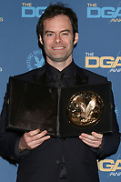 LOS ANGELES - FEB 2:  Bill Hader at the 2019 Directors Guild of America Awards at the Dolby Ballroom on February 2, 2019 in Los Angeles, CA