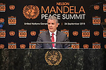 Opening Plenary Meeting of the Nelson Mandela Peace Summit<br /> <br /> <br /> Colombia