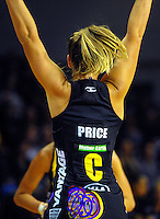 Jamie-Lee Price in action during the ANZ Netball Championship match between the Central Pulse and Waikato Bay Of Plenty Magic at TSB Bank Arena, Wellington, New Zealand on Monday, 30 March 2015. Photo: Dave Lintott / lintottphoto.co.nz
