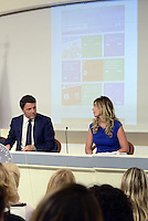 Roma, 1 Settembre 2014.<br /> Palazzo Chigi.<br /> Conferenza stampa di Matteo Renzi sui prossimi mille giorni del Governo e presentazione del sito web passodopopasso.italia.it.<br />  Matteo Renzi e la Ministra Maria Elena Boschi.<br /> Government Renzi: 1000 days and the site passodopopasso.italia.it <br /> Rome, September 1, 2014.<br /> Chigi Palace.<br /> Press Conference of Matteo Renzi on the next one thousand days of Government and presentation of the website passodipopasso.italia.it.<br />  Matteo Renzi and the minister Maria Elena Boschi.