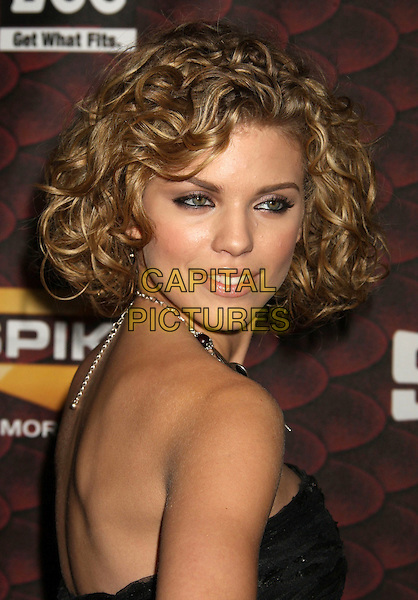 "ANNALYNNE McCORD.Spike TV's ""Scream 2008"" Awards held at the Greek Theatre, Los Angeles, California, USA..October 18th, 2008.headshot portrait anna lynne black strapless .CAP/ADM/MJ.©Michael Jade/AdMedia/Capital Pictures.."