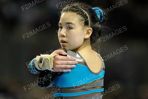 British Gymnastics Championships Liverpool Echo Arena 24.3.13. Individual Apparatus & Masters Championships .Imogen Chan