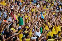 Torcida do Brasil durante o amistoso contra a Austrália, realizado neste sábado no Estádio Mané Garrincha, em Brasília (DF). (Foto: Thiago Ferreira / Brazil Photo Press).