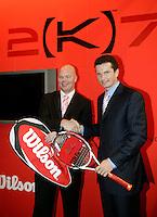 22-2-07,Tennis,Netherlands,Rotterdam,ABNAMROWTT, Richard Krajicek receives his first personalised racket from Wilson
