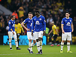Everton's Romelu Lukaku looks on dejected after going 3-1 down during the Premier League match at Vicarage Road Stadium, London. Picture date December 10th, 2016 Pic David Klein/Sportimage