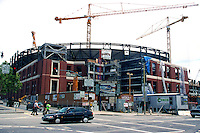 SAN FRANCISCO, CA - Exterior view during construction of Pacific Bell Park, home of the San Francisco Giants, in San Francisco, California on June 3, 1999. Photo by Brad Mangin