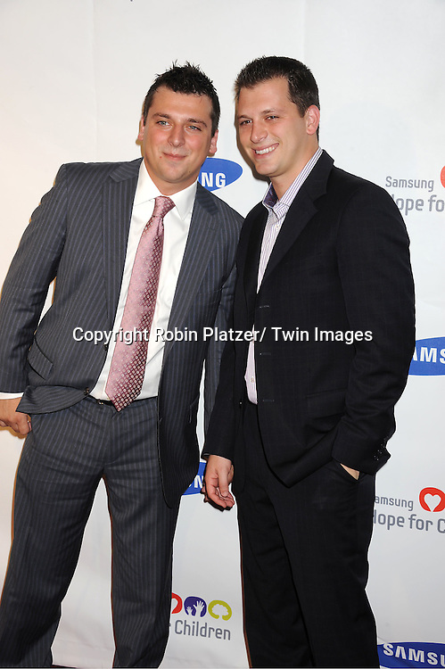 """Chris Manzo and Albie Manzo of """"The Real Housewives of New Jersey"""" attending the Samsung Hope For Children Gala at Cipriani .Wall Street on June 7, 2011 in New York City."""
