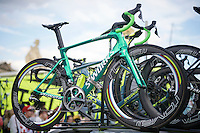 A special edition green bike by Specialized for Green jersey winner Peter Sagan (SVK/Tinkoff) for the last stage into Paris<br /> <br /> Final stage 21 - Chantilly › Paris/Champs Elysées (113km)<br /> 103rd Tour de France 2016