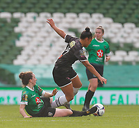 3rd November 2019; Aviva Stadium, Dublin, Leinster, Ireland; FAI Cup Womens Final Football, Peamount United versus Wexford Youth Womens Football Club; Karen Duggan of Peamount United tackles the ball away from Rianna Jarret of Wexford Youths - Editorial Use