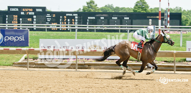 Good Chemistry winning at Delaware Park on 7/16/14
