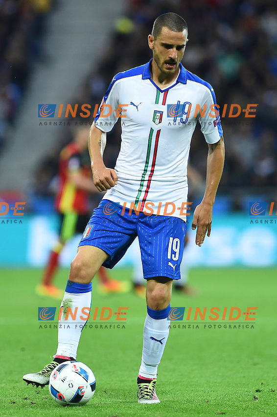 Leonardo Bonucci Italy <br /> Lyon 13-06-2016 Grand Stade de Lyon Football Euro2016 Belgium-Italy / Belgio-Italia Group Stage Group E. Foto Massimo Insabato / Insidefoto