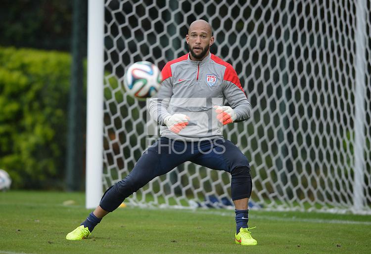 Sao Paulo, Brazil - Tuesday, June 10, 2014: USMNT training at Sao Paulo FC.