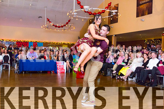 Niamh Daly and Luke Mulligan at the St. Pats Blennerville Strictly come Dancing fundraiser at Ballyroe Heights Hotel on Friday