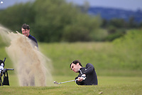 Colin Woodroofe (Dun Laoghraire) in a bunker on the 2nd during Round 3 of the East of Ireland Amateur Open Championship at Co. Louth Golf Club in Baltray on Sunday 4th June 2017.<br /> Photo: Golffile / Thos Caffrey.<br /> <br /> All photo usage must carry mandatory copyright credit     (&copy; Golffile | Thos Caffrey)