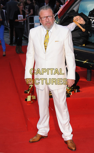 Ray Winstone .'The Sweeney' European film premiere, Vue West End cinema, Leicester Square, London, England..September 3rd, 2012.full length white cream suit brown shoes glasses beard facial hair  .CAP/BEL.©Tom Belcher/Capital Pictures.