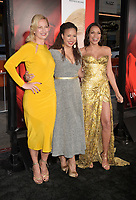 HOLLYWOOD, CA - APRIL 18:  (L-R) Actresses Zoe Bell, Tracie Thoms and Rosario Dawson arrive at the Premiere Of Warner Bros. Pictures' 'Unforgettable' at TCL Chinese Theatre on April 18, 2017 in Hollywood, California.<br /> CAP/ROT/TM<br /> &copy;TM/ROT/Capital Pictures