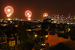 New Years Eve from a rooftop in Balmain. Sydney Australia. Sunday 1st January 2015 (Photo: Steve Christo).