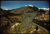 Excursion train - Garfield switchback.<br /> D&amp;RGW  Garfield Switchback, CO