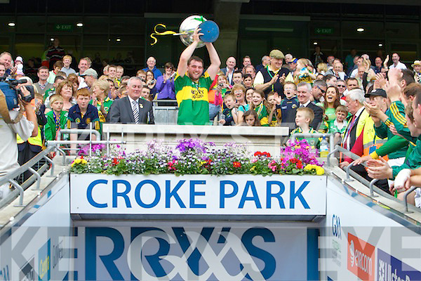 Kerry Hurling Captain Michael Boyle Lifts the Christy Ring Cup after defeating Wicklow at Croke Park, Dublin on Saturday 4th June 2011.