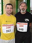 Stephen Lynch and Sean Reilly who ran the Ferdia Challange 10K run in Ardee. Photo:Colin Bell/pressphotos.ie