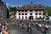 June 17th 2017, Schaffhaussen, Switzerland;  Illustration picture of the peloton Landscape Bunch Postcard Post card Paysage Carte Postale landschap briefkaart  during stage 8 of the Tour de Suisse cycling race, a stage of 100 kms between Schaffhaussen and Schaffhaussen