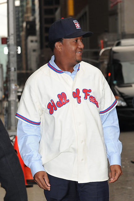 WWW.ACEPIXS.COM . . . . . <br /> January 7, 2014...New York City<br /> <br /> Pedro Martinez arrives to tape an appearance on the Late Show with David Letterman on January 7, 2015 in New York City.<br /> <br /> Please byline: Kristin Callahan...ACEPIXS.COM<br /> Tel: (212) 243 8787 or (646) 769 0430<br /> e-mail: info@acepixs.com<br /> web: http://www.acepixs.com